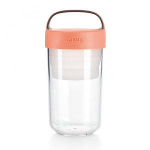Food jar to go 600 ml. - roze | Lekue
