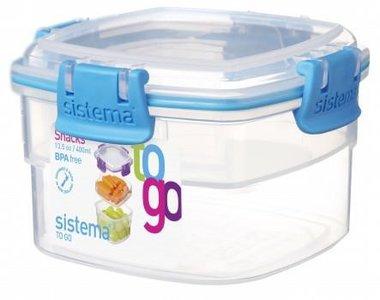 Snack to go doorzichtig blauw 400 ml. | Sistema