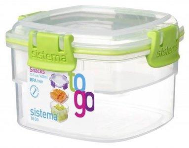 Snack to go doorzichtig groen 400 ml. | Sistema