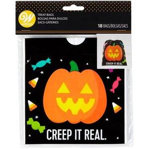 Halloween boterham-traktatiezakje
