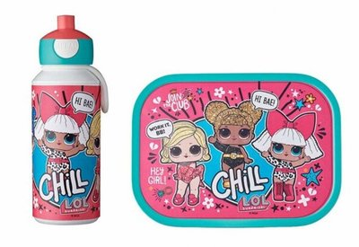Lunchset Campus (pop-up drinkfles + lunchbox) - LoL surprise