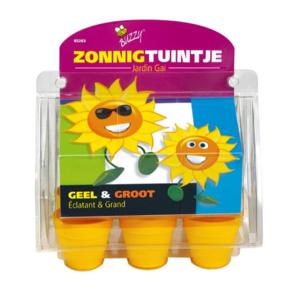 zonnig tuintje zonnebloemen
