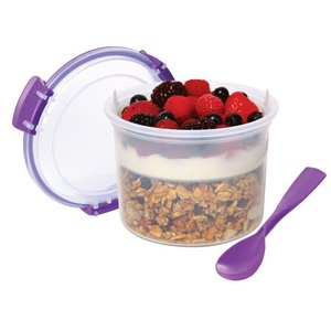 yoghurtbeker breakfast paars