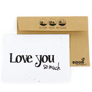 bloeikaart love you